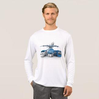 T-shirt Voyageur du monde pour les hommes