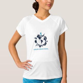 T-shirt Voyageur se baladant du monde