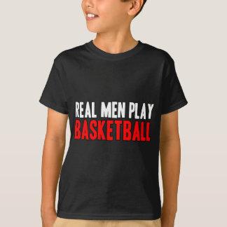 T-shirt Vrai basket-ball de jeu d'hommes