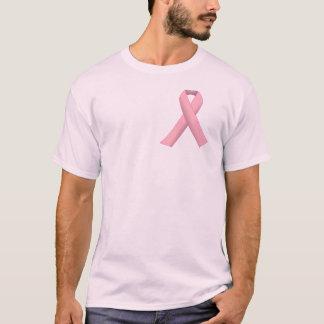 T-shirt Vrai cancer du sein de soutien d'hommes