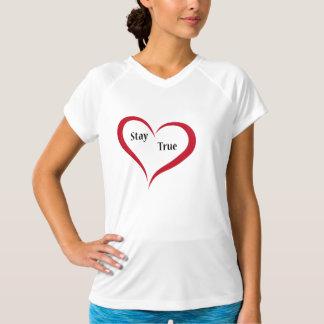 T-shirt vrai de véritable séjour de coeur