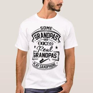 T-shirt Vrai saxophone de jeu de grand-papas