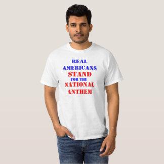 T-shirt Vrai support d'Américains pour l'hymne national