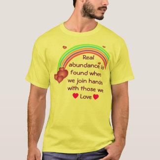 T-shirt vraie chemise d'abondance