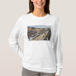 T-shirt Vue aérienne d'avenue de Wenatchee
