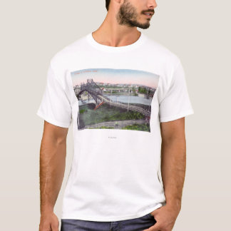 T-shirt Vue aérienne de Lewiston BridgeLewiston,