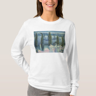 T-shirt Vue côtière avec des arbres de Cypress, 1896