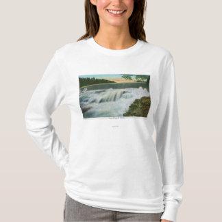 T-shirt Vue de barrage à l'abîme d'Ausable