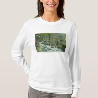 T-shirt Vue de bateau commençant en bas de la canalisation