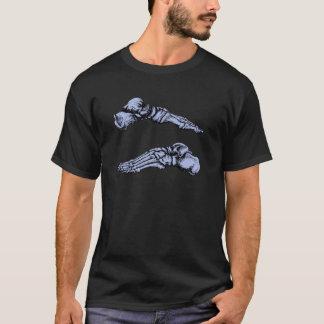 T-shirt Vue de côté des os des pieds - profondément bleu