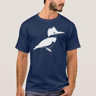 T-shirt Vue de côté d'oiseau de martin-pêcheur ceinturé de