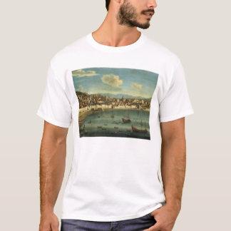 T-shirt Vue de la baie de Naples de la baie de Chiaia (