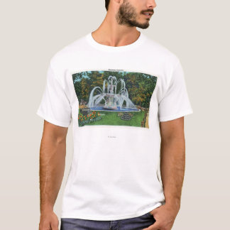 T-shirt Vue de la fontaine commémorative, université de