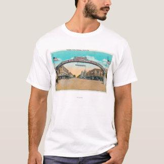 T-shirt Vue de Modesto ArchModesto de accueil, CA