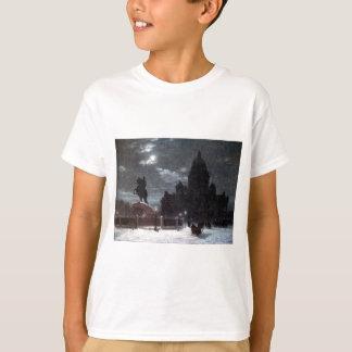 T-shirt Vue de monument à Peter I sur le carré de sénat