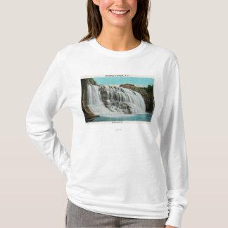 T-shirt Vue des automnes d'arc-en-ciel