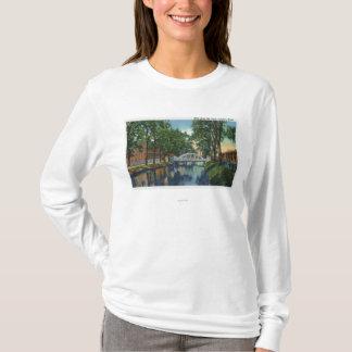 T-shirt Vue des moulins le long du canal