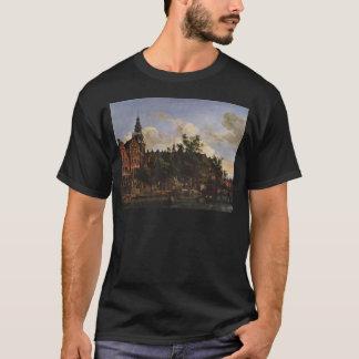 T-shirt Vue d'Oudezijds Voorburgwal avec l'Oude Kerk