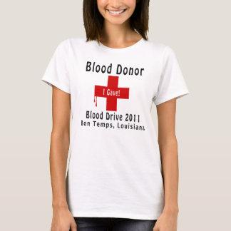 T-shirt W-baisses du donneur de sang 2011