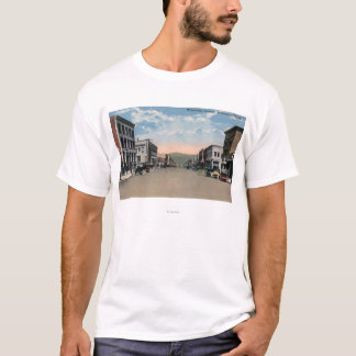 T-shirt Wenatchee, scène d'avenue de WashingtonWenatchee #