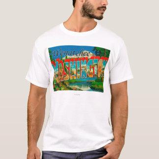 T-shirt Wenatchee, scènes de lettre de WashingtonLarge