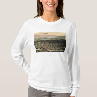 T-shirt Wenatchee, vue de WashingtonAerial d'un verger