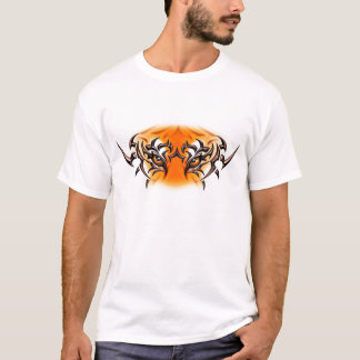 T-shirt white-tiger-tattoo-color-eyes-face