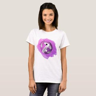 T-shirt Yin de l'éclaboussure des femmes et volleyball