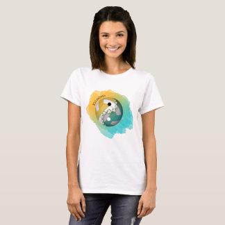 T-shirt Yin d'éclaboussure de la couleur des femmes et