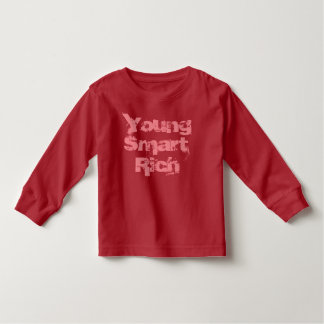 "T-shirt ""Young, Smart, Rich""  lange mouwen (rood)"