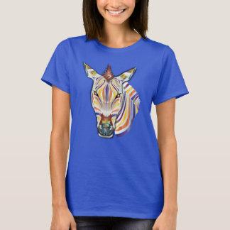 T-shirt Zèbre coloré