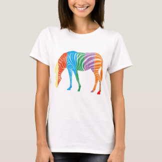 T-shirt Zèbre coloré multi