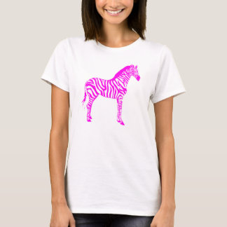 T-shirt Zèbre rose