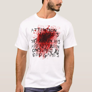T-shirt Zombis d'attention