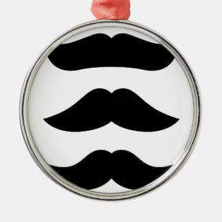 T-shirts avec des moustaches, produits ornement rond argenté