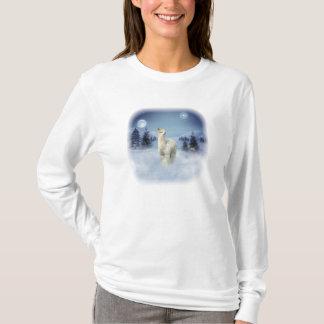 T-shirts d'alpaga de nuit d'hiver