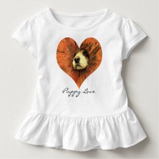 T-shirts d'amour de chiot