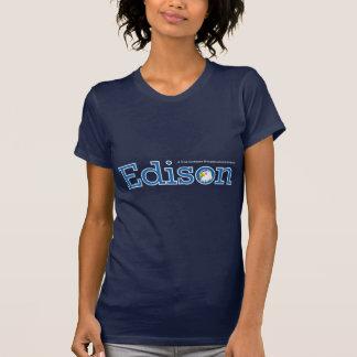 T-shirts de dames d'Edison (foncé)
