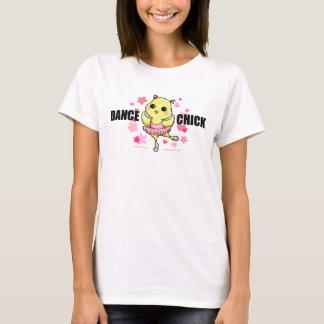 T-shirts de lumière de poussin de danse