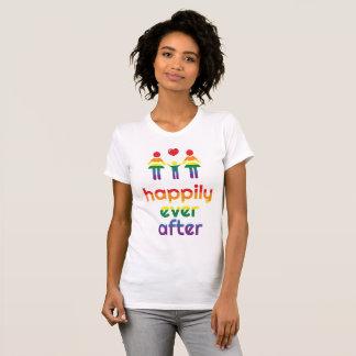 T-shirts de mariage homosexuel d'arc-en-ciel pour
