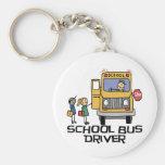 T-shirts et cadeaux de chauffeur d'autobus scolair porte-clef