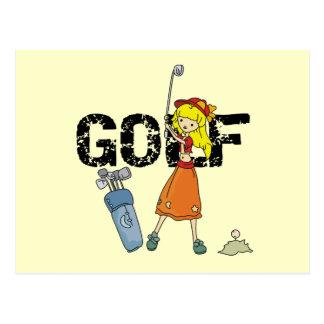 T-shirts et cadeaux de golfeur de fille carte postale