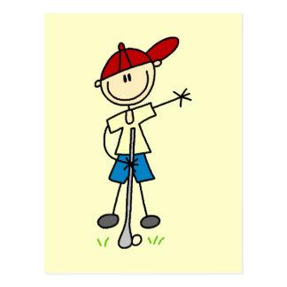 T-shirts et cadeaux de golfeur de garçon carte postale