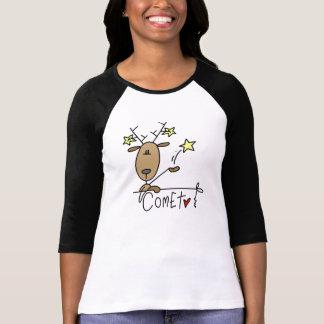 T-shirts et cadeaux de Noël de renne de comète