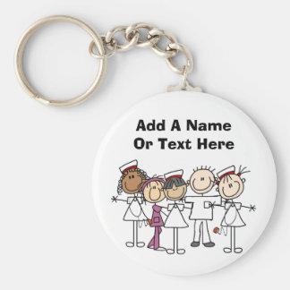 T-shirts et cadeaux de semaine d'infirmières porte-clé rond