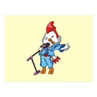 T-shirts et cadeaux de vedette du rock de poulet carte postale