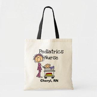 T-shirts et cadeaux d'infirmière de pédiatrie sac en toile budget