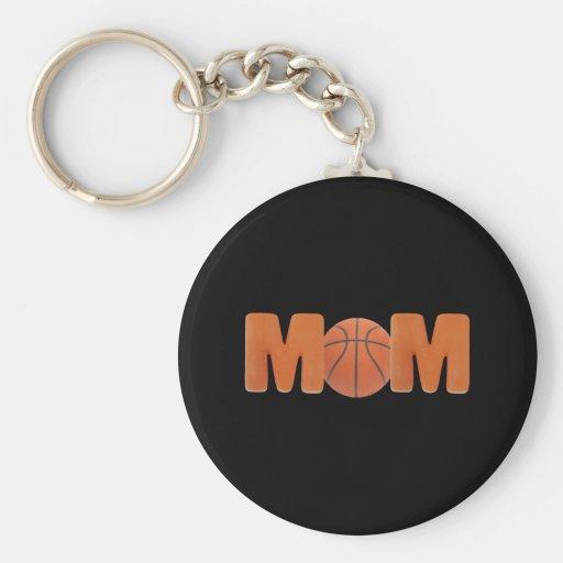 T-shirts et cadeaux pour la maman de basket-ball porte-clé rond