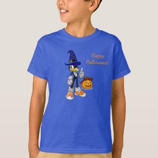 T-shirts fait sur commande bleu de Halloween pour