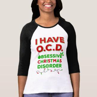 T-shirts obsédant de désordre de Noël d'OCD
